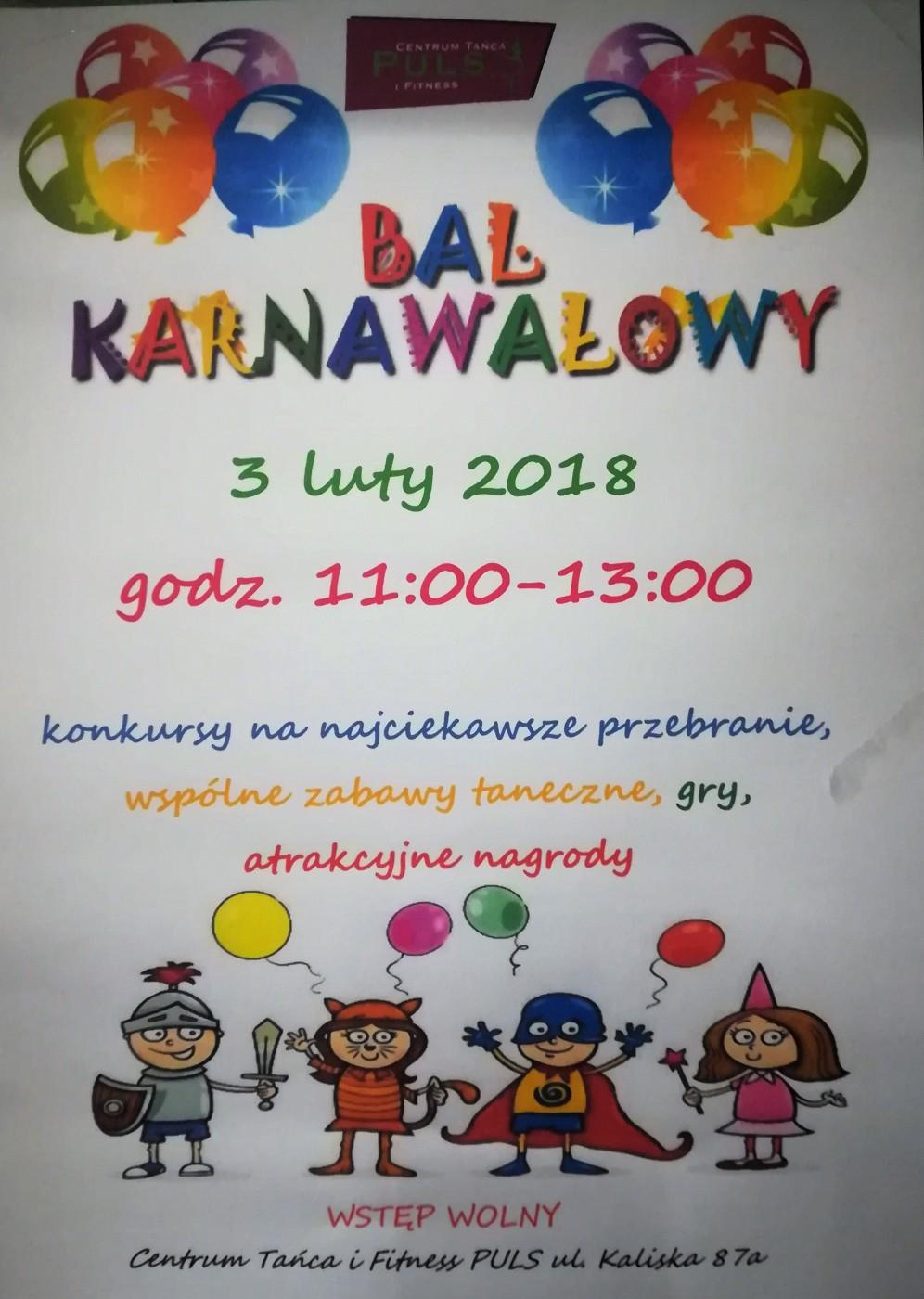 Bal Karnawałowy !!