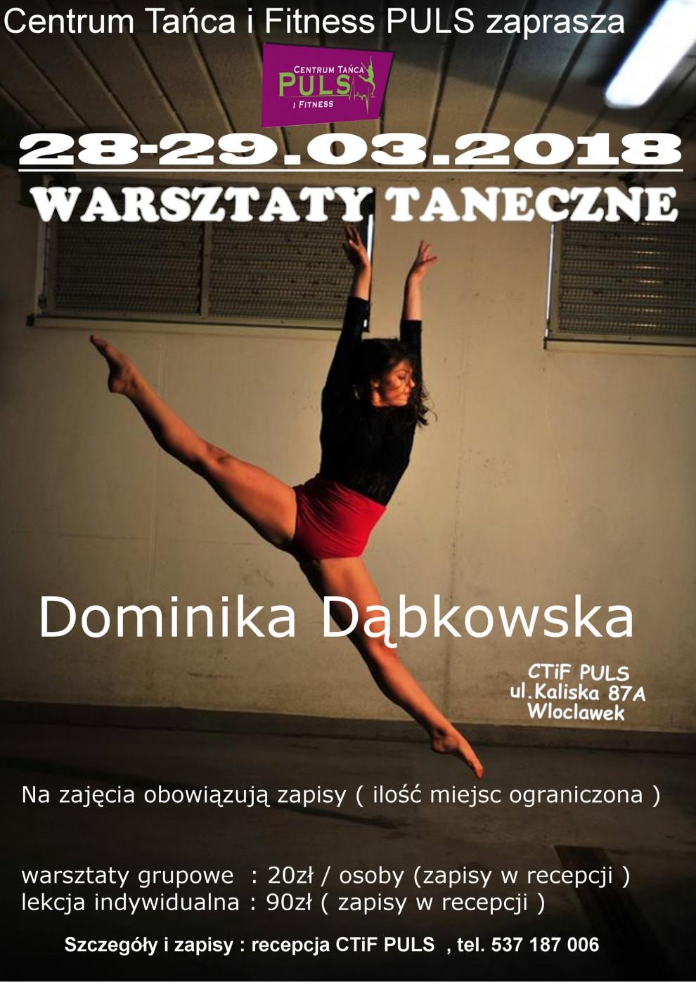 Warsztaty z Dominiką Dąbkowską