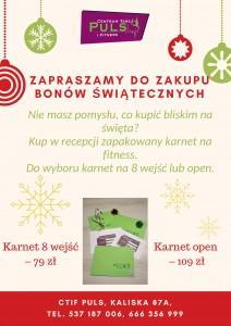 Zapraszamy do zakupu bonów świątecznych!